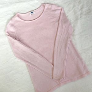 knitted light pink sweater old navy